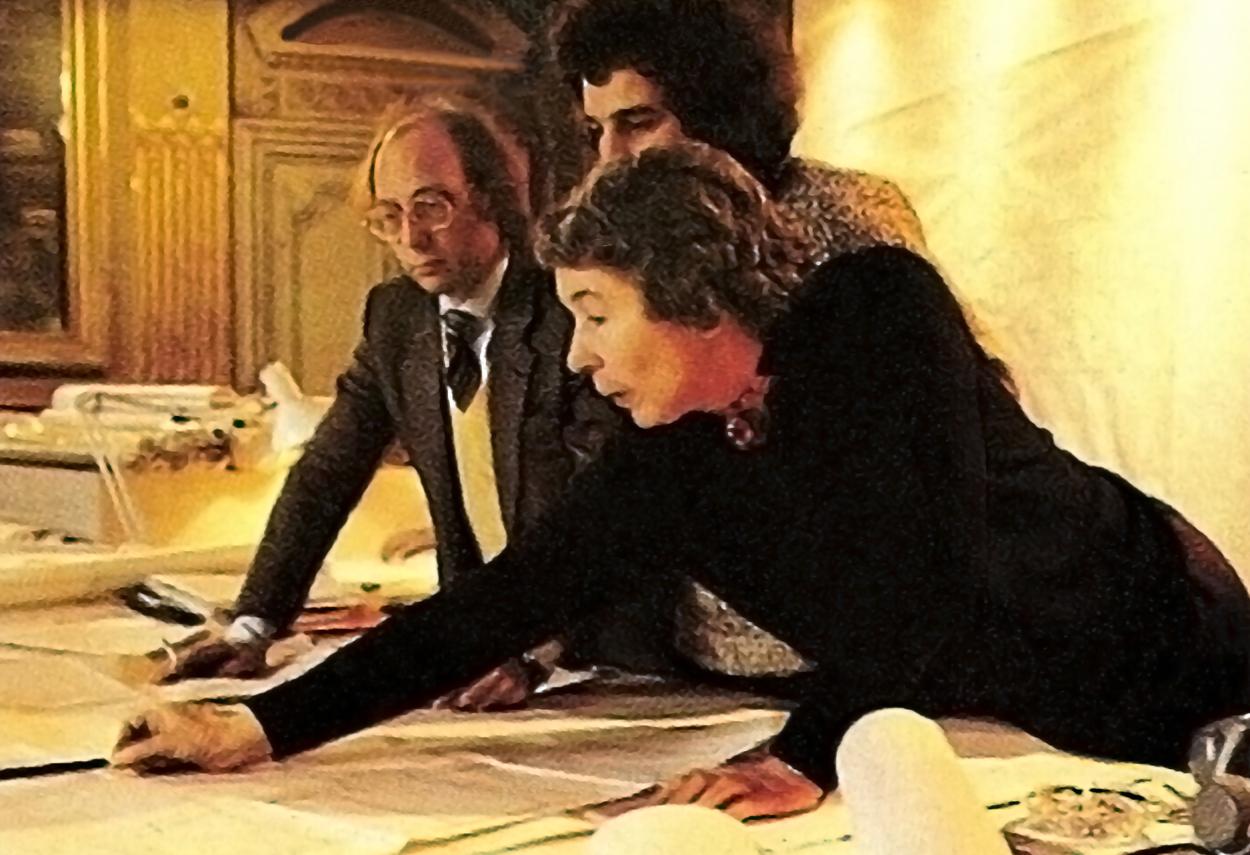Piero Castiglioni e Gae Aulenti al lavoro